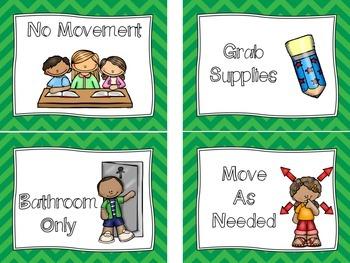 CHAMPS Classroom Management Signs - CHEVRON