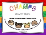 CHAMPS Classroom Management Signs - CHEVRON