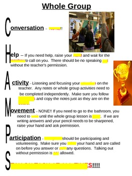 CHAMPS Classroom Management Strategy