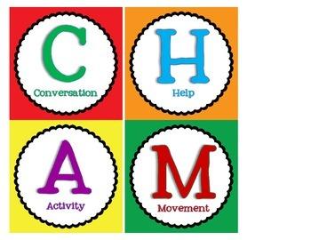 CHAMPS Classroom Management set:  Primary Colors
