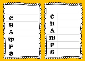 CHAMPS Classroom Managment Posters