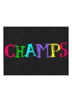 CHAMPS Classroom Poster-Neon Chalk