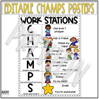 CHAMPS Classroom Posters