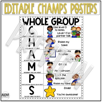 CHAMPS Posters - Editable