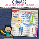 CHAMPS Classroom Visual Cue Posters- Editable