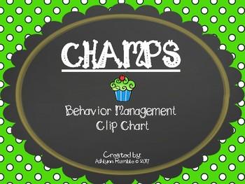 CHAMPS Clip Chart Management - Cupcakes