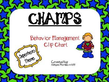 CHAMPS Clip Chart Management - Superhero