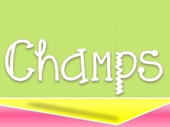CHAMPS Clip Chart- Neon Colors