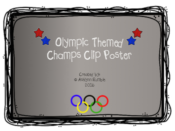 CHAMPS Clip Chart Olympic Theme