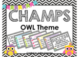 CHAMPS Clip Chart Owl Theme {Editable}