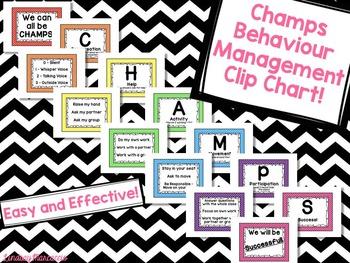 CHAMPS Behavior Management Clip Chart