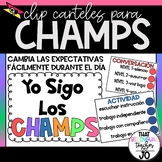 CHAMPS Clip-it posters in Spanish! - editable