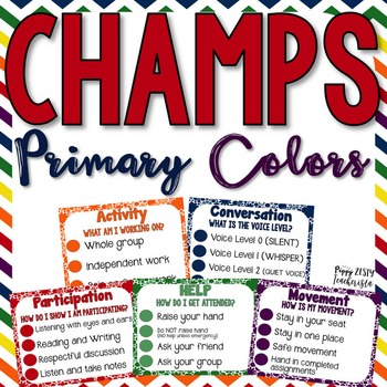 CHAMPS Clipchart [Primary Color & Black/White]