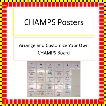 CHAMPS Customizable Poster Set