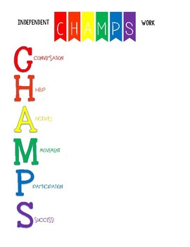 CHAMPS Expectation Posters