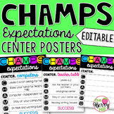 CHAMPS Expectations Center Posters - Editable!
