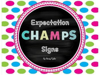 CHAMPS Expectations Signs