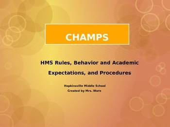 CHAMPS For Every Transition and Activity