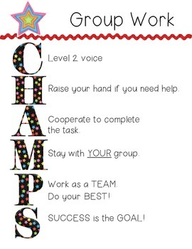 CHAMPS Group Work *NEW* Little Monsters)(