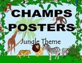 CHAMPS Posters Jungle Theme (2 Background Colors)