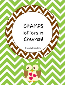 CHAMPS Letter Cards in Chevron