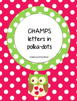 CHAMPS Letter Cards in Polka-dots