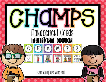 CHAMPS Management Cards (Primary Color)