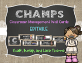 CHAMPS Behavior Management System Posters *EDITABLE* - Bur
