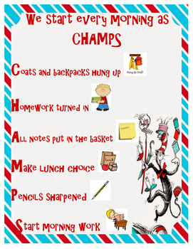 CHAMPS Morning Poster