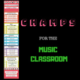 CHAMPS  Music Classroom Management Posters