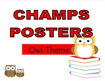 CHAMPS Posters Owl Theme (2 Background Colors)