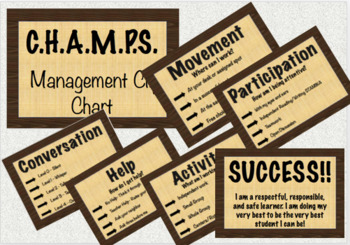 CHAMPS POSTERS Clip Chart EDITABLE  Wooden Frame