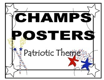 CHAMPS Posters Patriotic Theme (2 Background Colors)