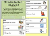 CHAMPS Pictures and Words for Common Classroom Activities