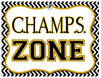 CHAMPS Poster - Chevron Yellow