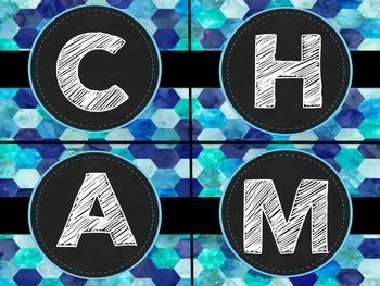 CHAMPS Poster Set-Blue Honeycomb