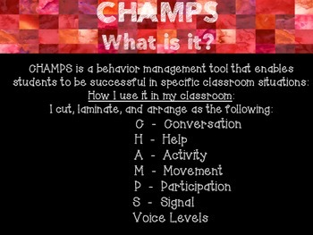 CHAMPS Poster Set-Red