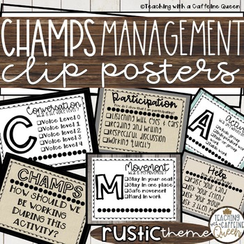 CHAMPS Clip Chart and Posters (RUSTIC)