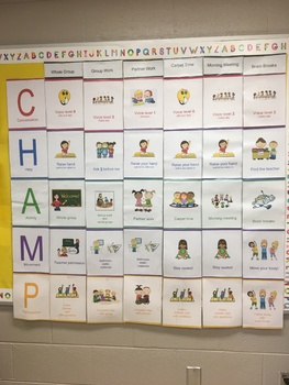 CHAMPS Posters 1st Grade