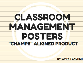 "Classroom Management Posters - ""CHAMPS"" aligned"