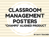 """Classroom Management Posters - """"CHAMPS"""" aligned"""