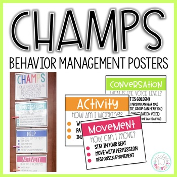 Classroom Management Posters: CHAMPS