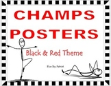 CHAMPS Posters Black, Red, White Theme
