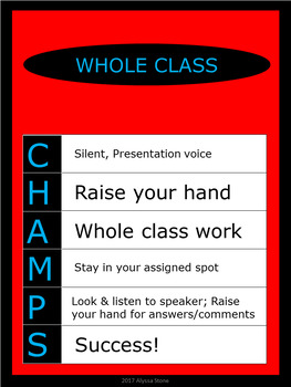 CHAMPS Posters/Bulletin Board Headings - Dr. Seuss Tribute Colors - Vertical