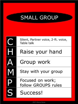 CHAMPS Posters/Bulletin Board Headings - Red - Vertical