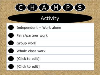 CHAMPS Posters -Burlap - Horizontal