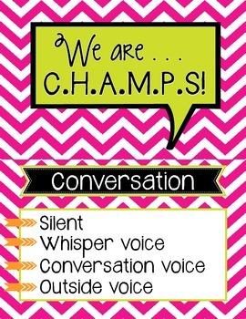 CHAMPS Chart chevron