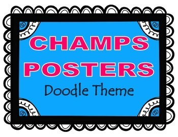 CHAMPS Posters Doodle Theme (2 Background Colors)