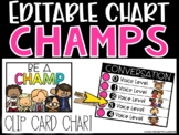 CHAMPS Posters - EDITABLE C.H.A.M.P.S. Clip Card Chart