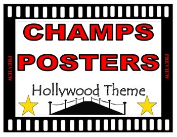 CHAMPS Posters Hollywood Theme